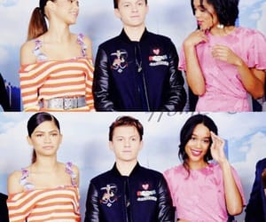 zendaya, laura harrier, and tom holland image