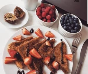 food, yummy, and strawberry image
