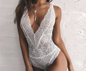 bodysuit, lace, and lingerie image