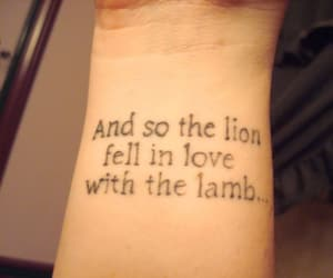 tattoo, twilight, and lion image