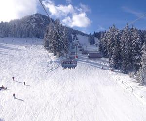 nature, ski, and ski lift image