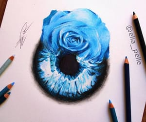 blue, draw, and eye image