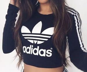 adidas, fashion, and crop top image
