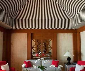 ceiling, room, and stripes image