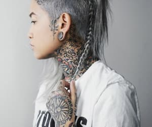 braid, tattoo, and hairstyle image