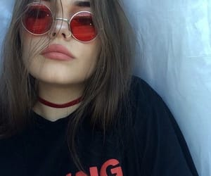 girl, tumblr, and red image