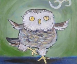 art, nursery art, and owl art image