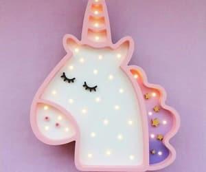 unicorn, flowers, and lights image