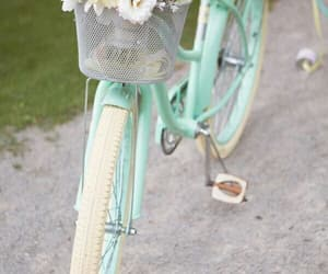 flowers, pastel, and bicycle image
