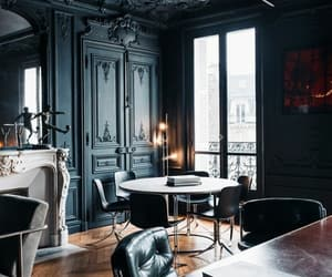 black, dining, and walls image