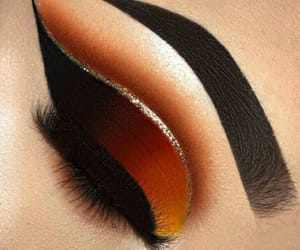 beauty, black, and eye shadow image