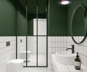 bathroom, ceiling, and modern image
