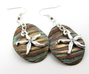 etsy, hippie earrings, and metal earrings image