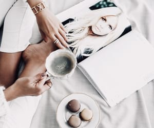 coffee, magazine, and breakfast image