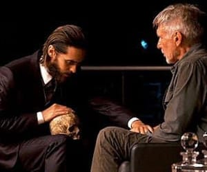 harrison ford, jared leto, and movie image