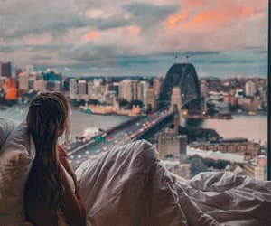 great view, sunset, and travel image