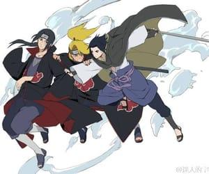 naruto, sasuke uchiha, and deidara image