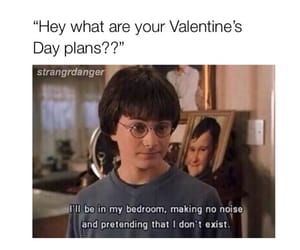 harry potter, memes, and Valentine's Day image