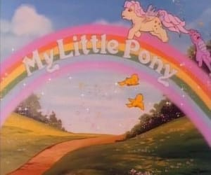 cartoon, my little pony, and pink image