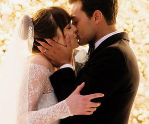 Jamie Dornan, kiss, and movie image