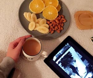 coffe, nail, and orange image
