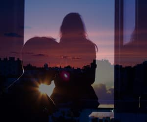 couple, sunset, and tumblr image