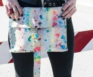 fashion, style blogger, and rainbow purse image
