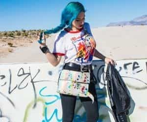 fashion blogger, fashion style, and rainbow purse image