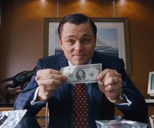 leonardo dicaprio, the wolf of wall street, and dollar image