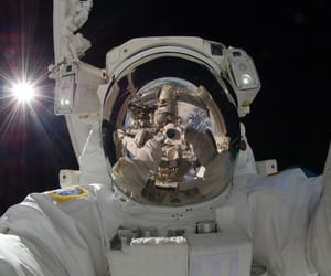 astronaut, space, and selfie image