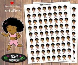 african american, black girl, and jogging image