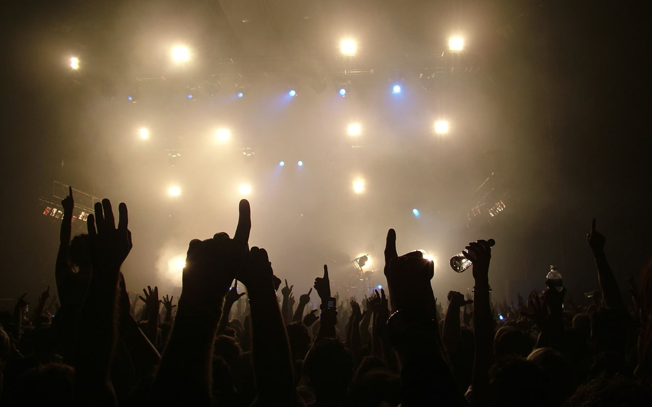music, concert, and hands image