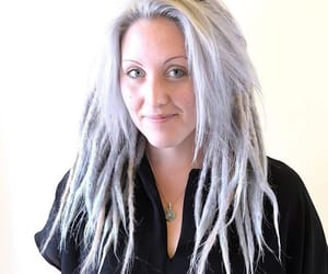 bangs, dreads, and silver dreads image