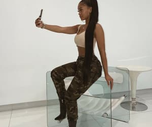 fashion, hair, and saweetie image