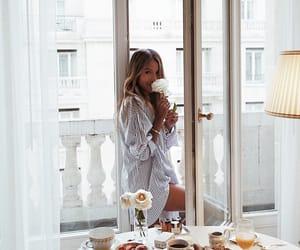 girl, food, and breakfast image