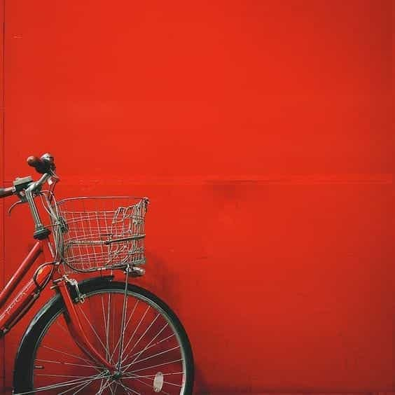 red, bicycle, and aesthetic image