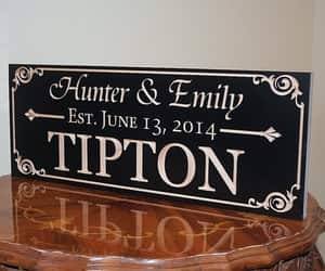 etsy, personalized sign, and family name sign image