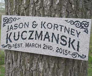 anniversary, man cave, and wood sign image
