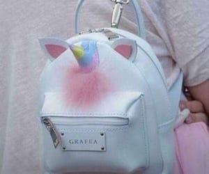 unicorn, pink, and bag image