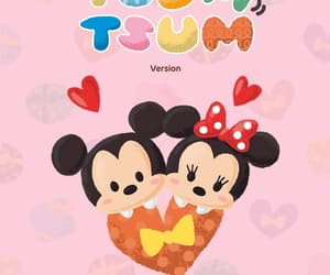 heart, mickey mouse, and minnie mouse image