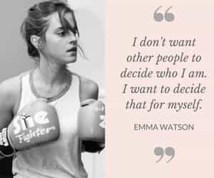 decision, emma watson, and empowering image