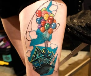 disney, tattoo, and up image
