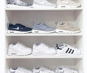 nike, adidas, and shoes image