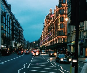 cars, harrods, and london image