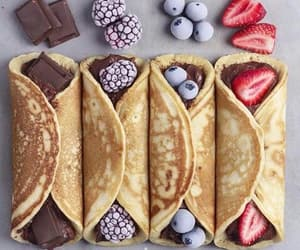 berry, pancakes, and straberry image