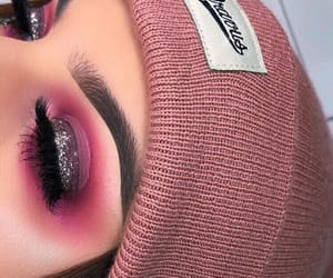 beauty, false eyelashes, and glitter image