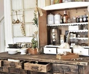 kitchen, rustic, and vintage image