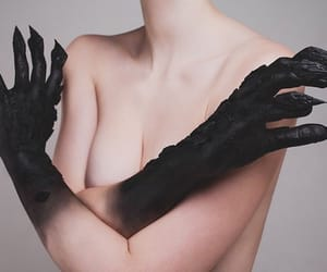 black, art, and claws image
