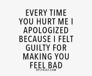 quotes, Relationship, and guilty image