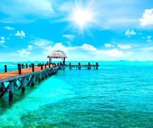 vacations, cancun mexico, and beautifull beach image